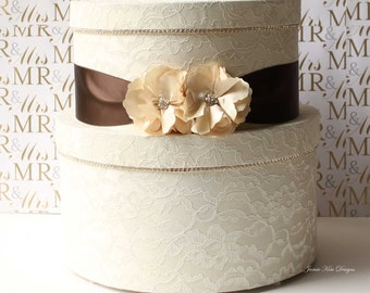 Lace Wedding Card Box, Money Holder- Custom Made to Order