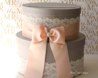 Wedding Card Box, Money Box, Gift Card Holder - Choose your own color