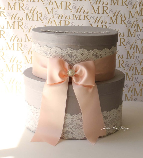 Vintage Wedding Gift Card Holder : Wedding Card Box, Money Box, Gift Card Holder - Choose your own color