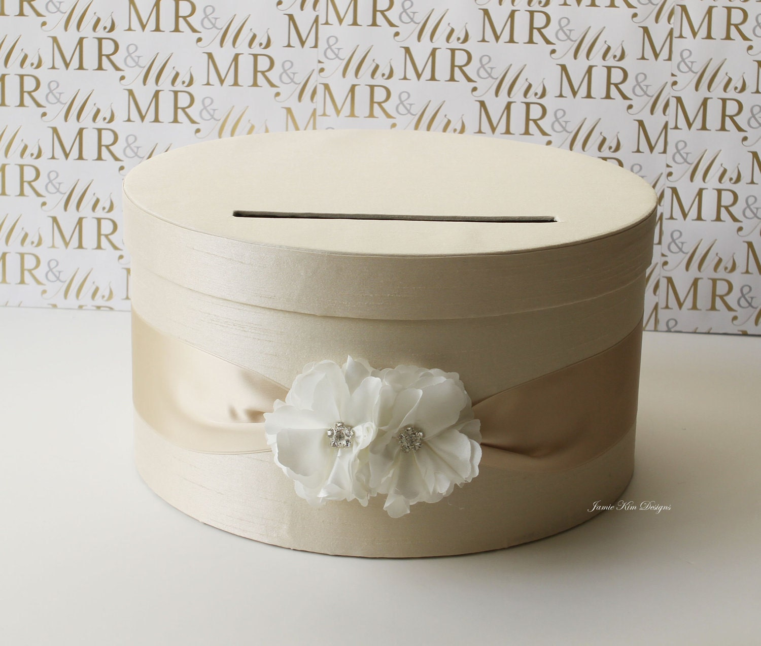 Wedding Card Money Box Gift Card Holder Custom by jamiekimdesigns