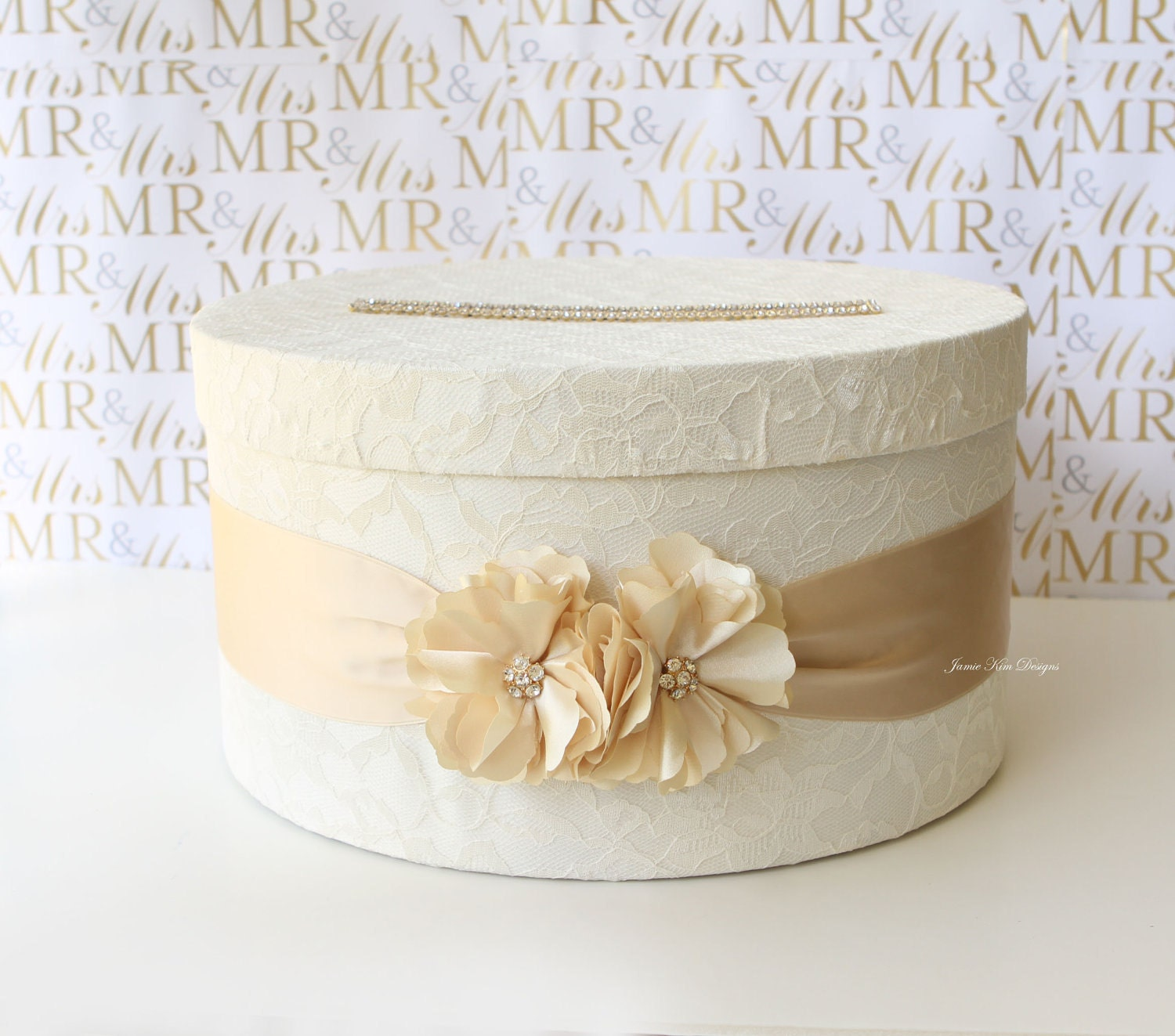 Wedding Money Box: Elegant Wedding Card Box Money Box Card Holder Custom Made To