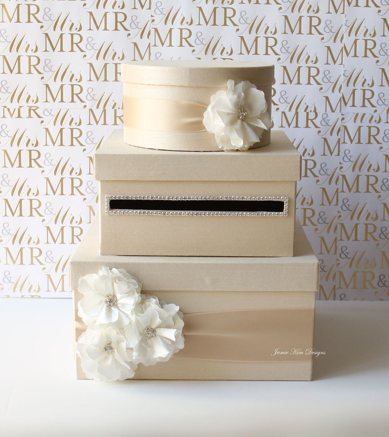 Wedding Gift Card Containers : Wedding Card Box Money Box Gift Card Holder Custom Made to