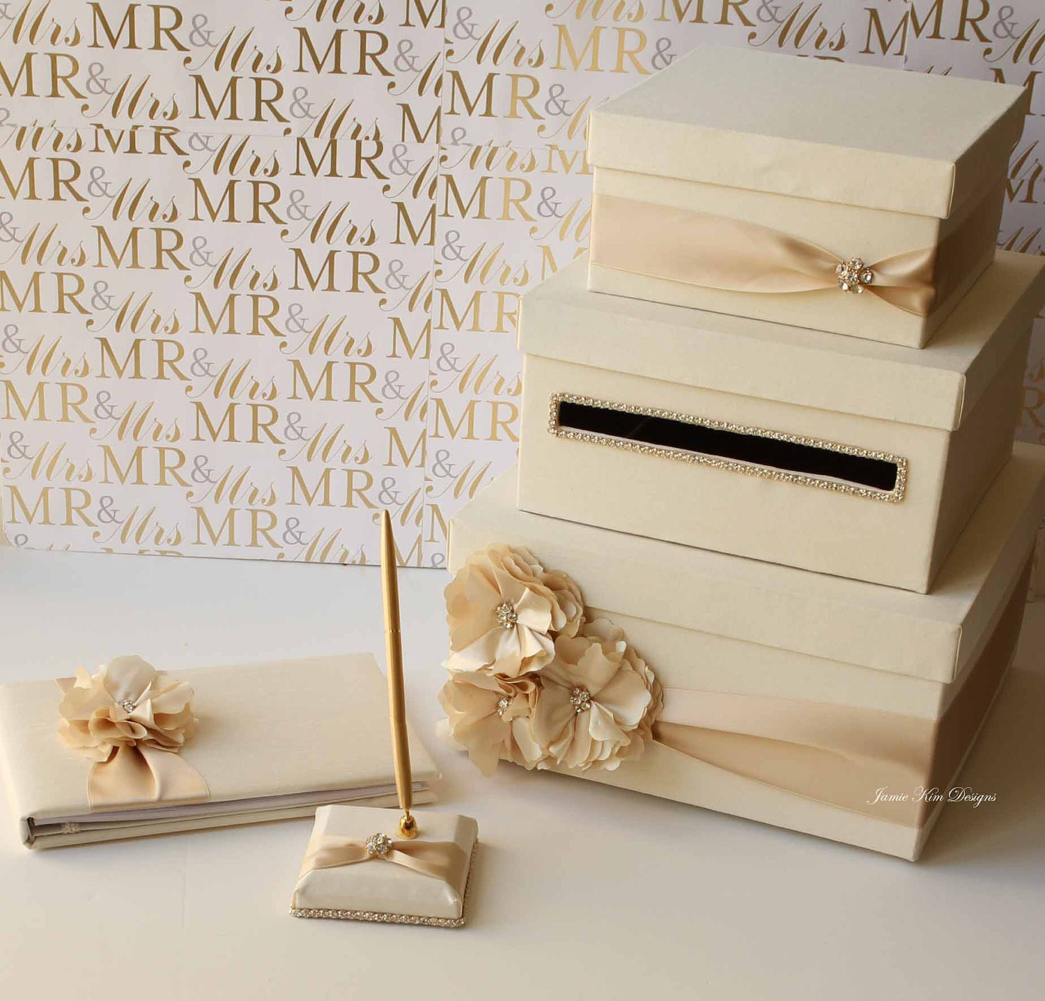 Wedding Reception Gift Card Holder : Wedding Card Box Money Box Gift Card Holder by jamiekimdesigns