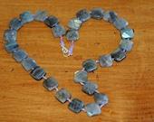 Labradorite Pillow Bead Necklace 2