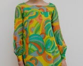 Vintage 60s 70s psychedelic dress (S-M)