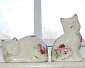 Adorable Victorian Cat Porcelain Figurines - Formalities by Baum Brothers