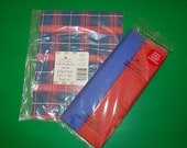 Blue and Red Retro Plaid Gift Wrap and Tissue Paper Set