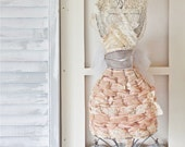French Dress Form or Mannequin Made With Vintage Laces and Ribbons - SALE 10% Off List Price