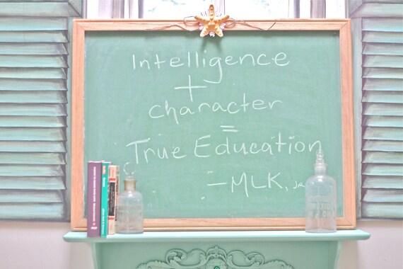 Vintage Green Chalkboard - Blackboard Framed and Portable