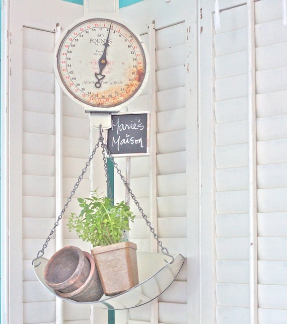 SOLD TO LEANNE Vintage Hanging Scale Farmhouse Fresh