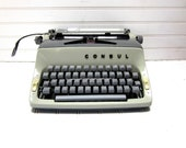 SALE Vintage Typewriter Consul Model 221 Gray Two Tone Manual Typewriter