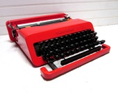 RESERVED for Stephalex3006 -- Vintage Typewriter Olivetti Valentine Red Manual Typewriter