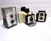 Vintage Camera Collection Polaroid The Swinger Imperial Mark 27 Kodak Brownie Starflex  Lot of 3 Cameras
