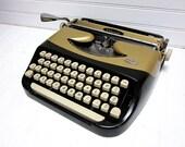 SALE Vintage Typewriter Royal ElDorado Black and Gold Portable Typewriter