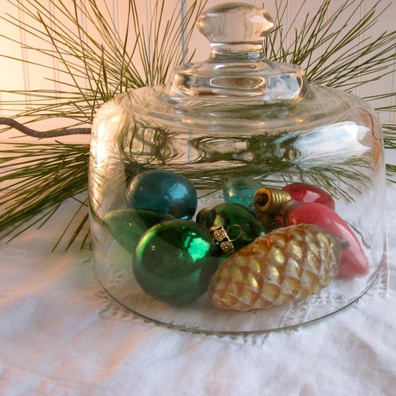 Vintage christmas ornaments pine cone bulbs by for Pine cone christmas tree ornaments