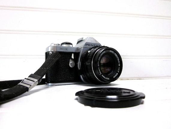 RESERVED for Lauren McNally -- Vintage Camera Pentax ME 35mm SLR Compact Camera