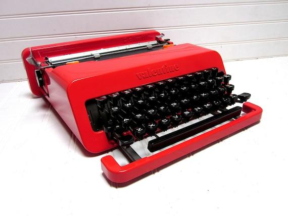RESERVED for Stephalex3006 -- Vintage Typewriter Olivetti Valentine Red Manual Typewriter