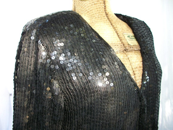 Shimmer and Shine Vintage Sequin and Beaded Silk Jacket
