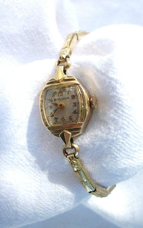 Vintage Bolova - Ladies Watch - Gold Filled Band - Swiss - Chic