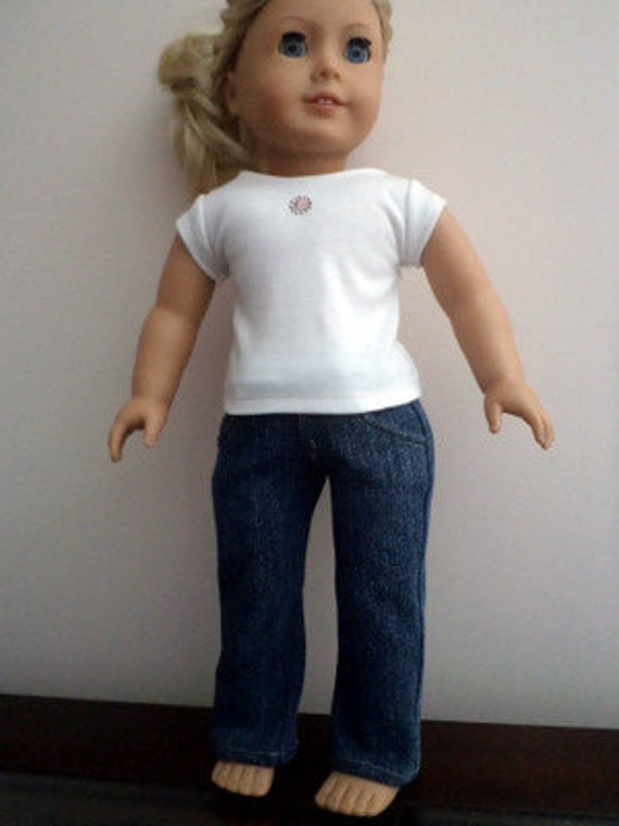 "Sweet Jeans with T- Shirt for 18"" Doll"