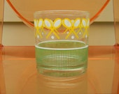 set of 4 1960s tennis lowball glasses