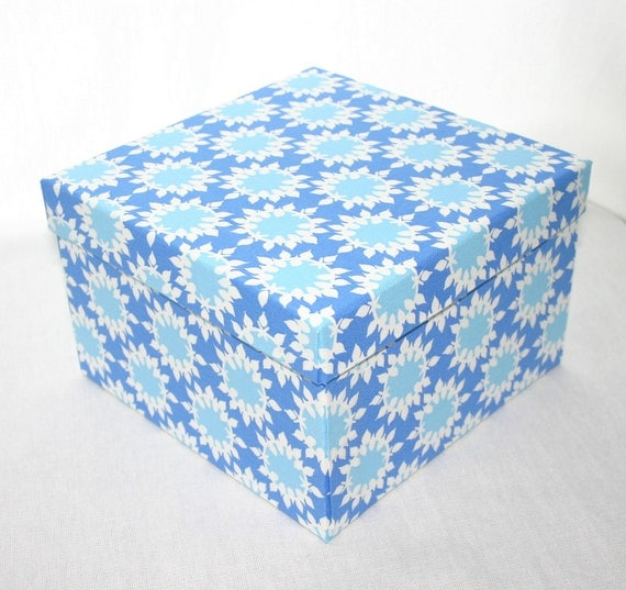 Medium square decorative box England Swings Collection by Rebekah Merkle