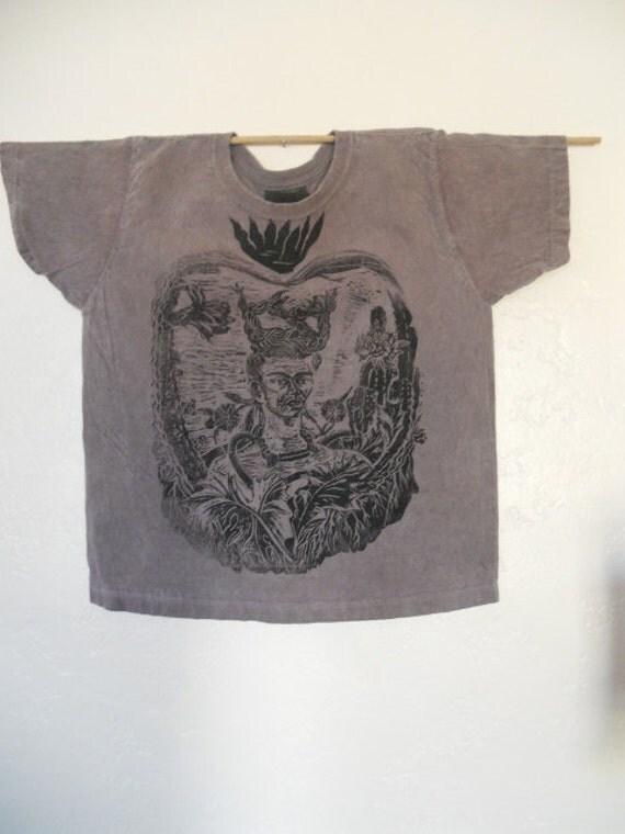 Frida in the Garden Block Printed Shirt