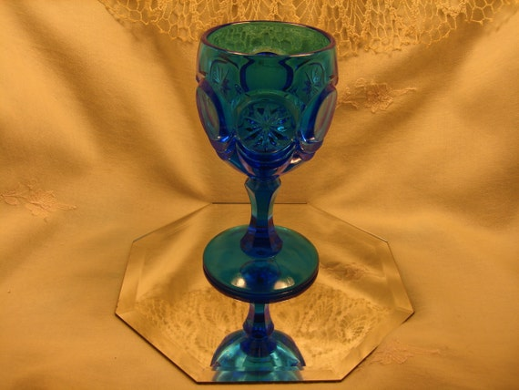 Made for FENTON by Red Cliff KNOBBY BULLS Eye, Peacock Blue Color, Cobalt Blue Glass,