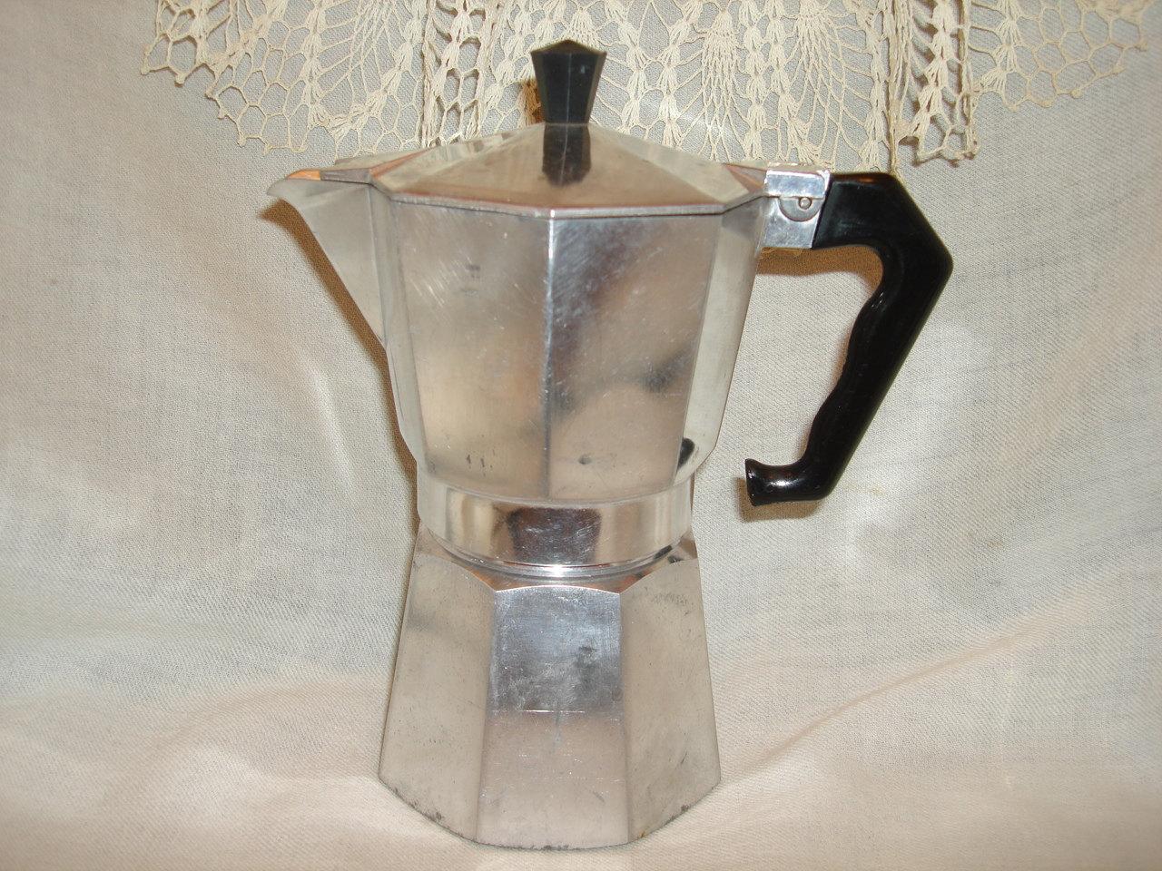 Old Espresso Maker ~ Vintage kitchen espresso coffee maker junior express made in
