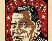 Howlin Wolf Poster- signed by Grego - blues folk art - digital