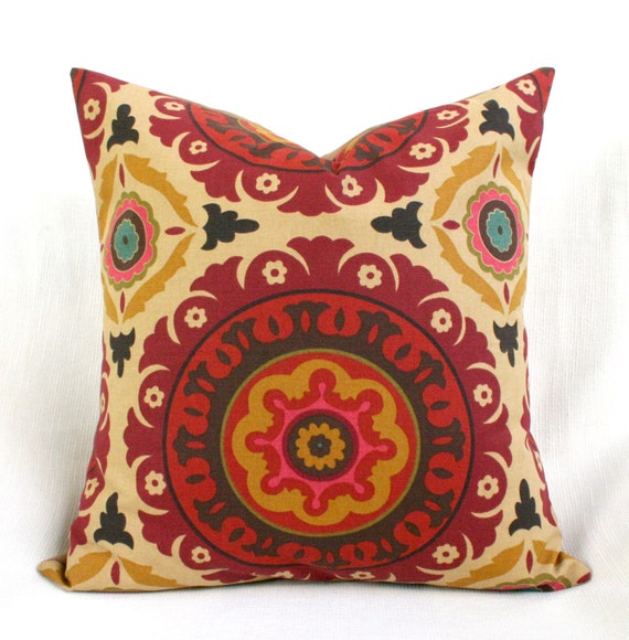 Decorative Pillow Cover Suzani Mediterranean Spice RESERVED FOR LIZA