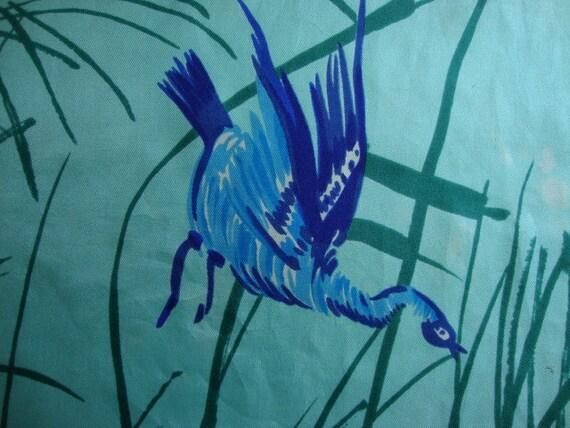 Vera Neumann Asian Bird Design Oblong Scarf