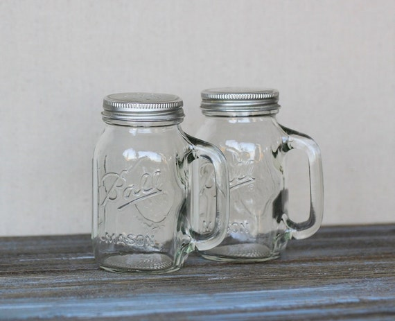 Items Similar To Ball Mason Jar Salt And Pepper Shakers On