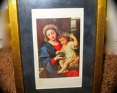 Vintage - 1980's -  Renaisance - A  Perfect Expression of the Holiday Season - Striking Print of Madonna and child rennaisance