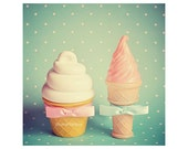 Mr. and Mrs.Ice cream in turqouise