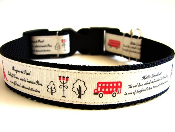 Unique Dog Collar Travel to Paris and London