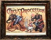 Circus Poster from 1888 Art Print on Ivory Cotton Paper
