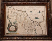 Morocco Map Print of a 1635 Map on Parchment Paper