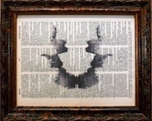 Rorschach Ink Blot 7 Art Print on Dictionary Book Page