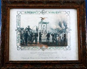 Remembrance of Abe Lincoln Art Print from 1865 on Parchment Paper