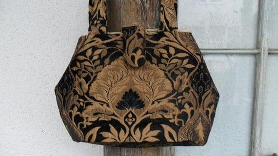 Bohemian Gypsy Bag Purse Handbag Victorian Classic Chic Clutch Pocketbook Silk Elegant Large Carryall