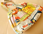 Yellow Pop Art Comic Strip Fabric Bag Only ONE