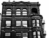 Urban Photography - Victorian Brick Apartment Building - Detroit - Fine Art - Black and White - 8x10