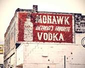 Detroit Photography - Mohawk Vodka - Detroit's Favorite Vodka - Detroit Photo - Fine Art Photo - 8x10
