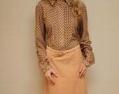 Vintage 70s Dress / Paisley / Kenny Classics brand