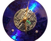 Blue CD-Computer Board Clock