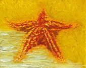 Original Giclee: Spike 32x24 Starfish on Gallery Wrapped Canvas