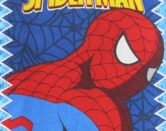 "SPIDER-MAN "" Spider Sense"" Favorite Comic Soft Cloth Book in Red, Blue, Black and White"