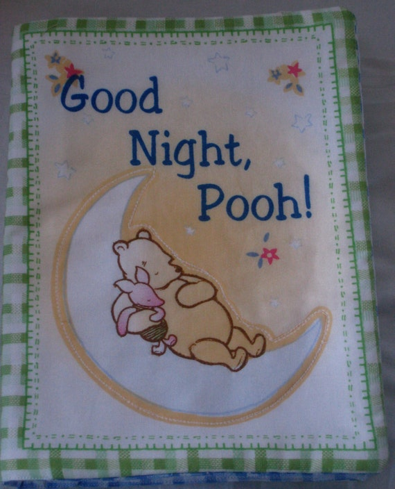 "VIntage ""Good Night Pooh"" Soft Cloth Book from the Classic ""Winnie The Pooh"""