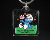 Want to Smurf Around Key Chain